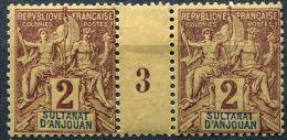 Anjouan, N° 02* Y Et T, 2, Millésime 3 - Anjouan (1892-1912)