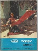 Sabena Magazine 1968 N° 80  Guatemala Masques Maya Lavandière Tanger Mosquée Sidi Bou Abid Photo Général Bradley - Aviazione