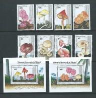 Nevis 1991 Mushroom & Fungus Set 8 & 2 Miniature Sheets MNH - St.Kitts Y Nevis ( 1983-...)