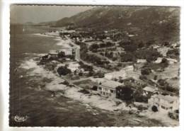 CPSM AJACCIO (Corse Du Sud) - Vue Aérienne De La Cote Et Au Centre La Chapelle Des Grecs - Ajaccio