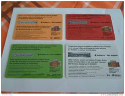 BELGIUM - super FULL set of 4 price winning phonecard 50gr Pringles