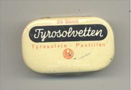 """Boîte Métallique - """" Tyrosolvetten """" Tyrosolvin - Pastillen - Pastille, Dragée, Médicament, Médical, Pharmacie - Boîtes"""
