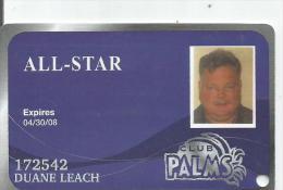 USA.  Casino Card.   Palms Club