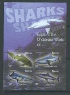 Nevis 2004 Shark Sheet Of 4 MNH - St.Kitts And Nevis ( 1983-...)