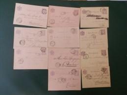 KARTONNEN DOOS 2        11  BRIEFKAARTEN 2.5    CENT PAARS     2 FORMATEN - Interi Postali