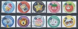 BELGIE  JAAR 2015  10 ZEGELS UIT BOEKJE SMOELTJES - Used Stamps