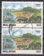 Malesia, 1981 - 80c Traditional And Modern Farming, Coppia - Nr.229 Usato° - Malesia (1964-...)