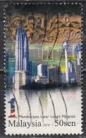 Malesia, 2010  50c Buildings - Nr.1330 Usato° - Malesia (1964-...)