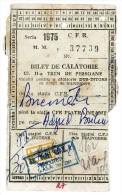 Romania, 1975, Romanian Railways CFR Ticket, 2nd Class - Revenue Stamp