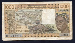 WEST AFRICA 1000 FRANCHI 1981 - BB - Altri – Africa