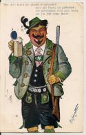 Cpa Illustrateur AV Schrvitter ( Chasseur Bière ) - Andere Zeichner