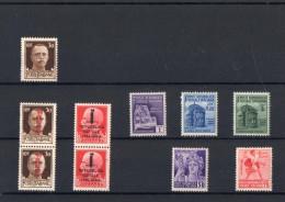 ITALIA: Serie Di 10  Francobolli NUOVI - Regno E  Repubblica Sociale Italiana (non Completa) - 4. 1944-45 Repubblica Sociale