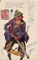 Cpa Illustrateur AV Schrvitter  ( Chasseur Lapin ) - Andere Zeichner