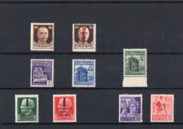 ITALIA: Serie Di 9  Francobolli NUOVI - Regno E  Repubblica Sociale Italiana (non Completa) - 4. 1944-45 Repubblica Sociale