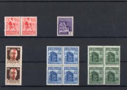ITALIA: Serie Di 13  Francobolli NUOVI - Regno E  Repubblica Sociale Italiana (non Completa) - 4. 1944-45 Repubblica Sociale