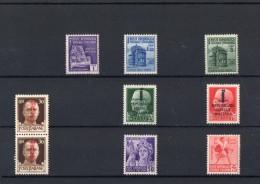 ITALIA: Serie Di 7 & 1 Dittico  Francobolli NUOVI - Repubblica Sociale Italiana (non Completa) - 4. 1944-45 Repubblica Sociale