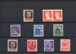 ITALIA: Serie Di 8  Francobolli & 1 Dittico NUOVI - Regno E  Repubblica Sociale Italiana (non Completa) - 4. 1944-45 Repubblica Sociale