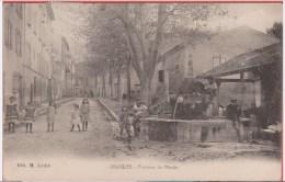 13 - JOUQUES - Fontaine Du Moulin Animée - Autres Communes
