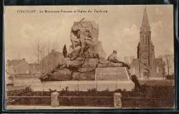 - CPA BELGIQUE - Chatelet, Le Monument Français Et L'église Du Faubourg - Châtelet