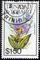 Flower, Eustoma Exeltatum, Trinidad & Tobago Stamp SC#403 Used - Trinité & Tobago (1962-...)