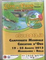 alt762 Brochure programma campionati mondiali cercatori oro gold panning world championship Valle Elvo Mongrando Biella