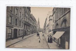CPA 75 - PARIS - La Rue Las-Cases - TB PLAN Petite Rue Avec Jolie ANIMATION Et MAGASINS Oblitération - Non Classés