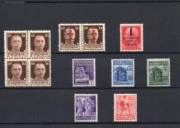 ITALIA: Serie Di 6  Francobolli + 1 Quartina + 1 Dittico NUOVI - Regno E  Repubblica Sociale Italiana (non Completa) - 4. 1944-45 Repubblica Sociale
