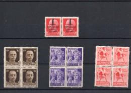ITALIA: 3 Quartine & 1 Dittico - Regno E Repubblica Sociale Italiana (non Completa) - 4. 1944-45 Repubblica Sociale