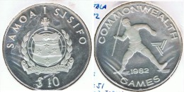 SAMOA I SISIFO 10 DOLLAR 1982 LANZAMIENTO PLATA SILVER G1 - Samoa