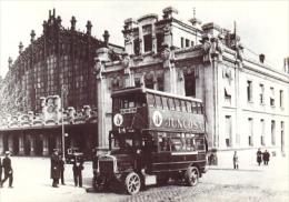 7f-1250. Postal Colección Viejas Glorias. Autobus Tilling-Stevens. Estación Del Norte - Chemins De Fer
