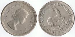 SUDAFRICA SUID AFRIKA 5 SCHILLING 1958 PLATA SILVER - Sudáfrica