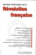 ANNALES HISTORIQUES DE LA REVOLUTION FRANCAISE  N° 335  JANVIER / MARS 2004 - Histoire
