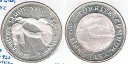 TURQUIA 500 LIRA MUNDIAL ESPAÑA PLATA SILVER G1 - Turquia