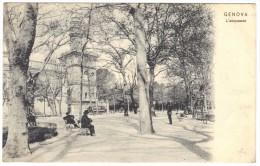 Genova L´acquasola - Dr. Trenkler Co, Lipsia - Postmark 1907 - Genova (Genoa)