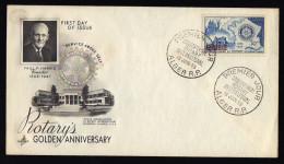 ROTARY ALGERIA 1955 FDC. - Rotary, Lions Club