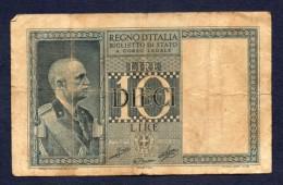10 LIRE ITALIA 1939 BB - [ 1] …-1946 : Koninkrijk