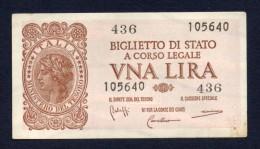 1 LIRA ITALIA 1944 SPL - Bolaffi, Cavallaro, Giovinco - Italia – 1 Lira