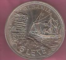 ALBANIE 5 LEKE 1987 CN UNC SEAPORT OF DURAZZO - Albanie