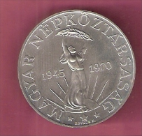 HONGARIJE 50 FORINT 1970 ZILVER UNC. 25TH ANN LIBERATION - Hongrie
