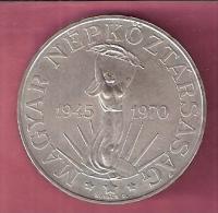 HONGARIJE 100 FORINT 1970 ZILVER UNC. 25TH ANN LIBERATION - Hongrie