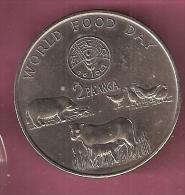 TONGA 2 PA'ANGA 1981 CN UNC WORLD FOOD DAY ANIMALS - Tonga