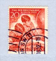 Berlin 1951, journ�e du Timbre, 77 ob, cote 45 �,