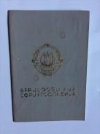 PASSAPORTO  PASSPORT    REISEPASS   1990.   YUGOSLAVIA  ( SERBIA )  VISA TO:   GREECE - Historical Documents