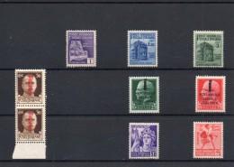 ITALIA: Serie Di 7  Francobolli & 1 Dittico NUOVI - Repubblica Sociale Italiana (non Completa) - 4. 1944-45 Repubblica Sociale