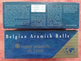 "3 BOULES DE BILLARD FRANCAIS ""SUPER ARAMITH DE LUXE"" - Billiards"