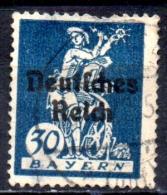 GERMANY 1920 Bavarian Stamps Overprinted -  30pf - Blue FU - Gebraucht