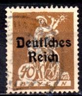 GERMANY 1920 Bavarian Stamps Overprinted - 40pf  - Brown  FU - Gebraucht
