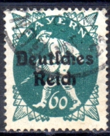 GERMANY 1920 Bavarian Stamps Overprinted - 60pf - Green  FU - Gebraucht