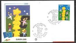 2000 ITALIA FDC FILAGRANO EUROPA - 1946-.. République