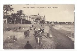 12612 -  Cannes La Plage Et L'Hôtel Carlton Enfants - Cannes